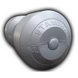 STAMINA Plastic Dumbbell 8kg [ST-800-8S] - Silver - Barbell / Dumbbell